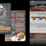 Criação de folder e site para hamburgueria em Florianópolis