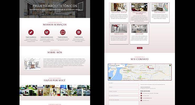 Criação site Porto Alegre - Arquiteta Caroline Sepulveda