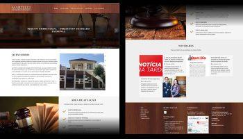 desenvolvimento site Martelli Advocacia