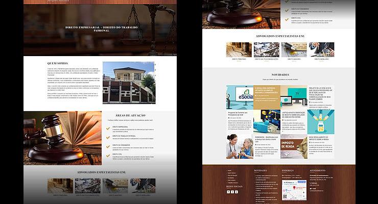 Desenvolvimento site e criação conteúdo redes sociais