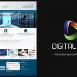 Desenvolvimento do logotipo, site e materiais impressos Digital Tecnologia