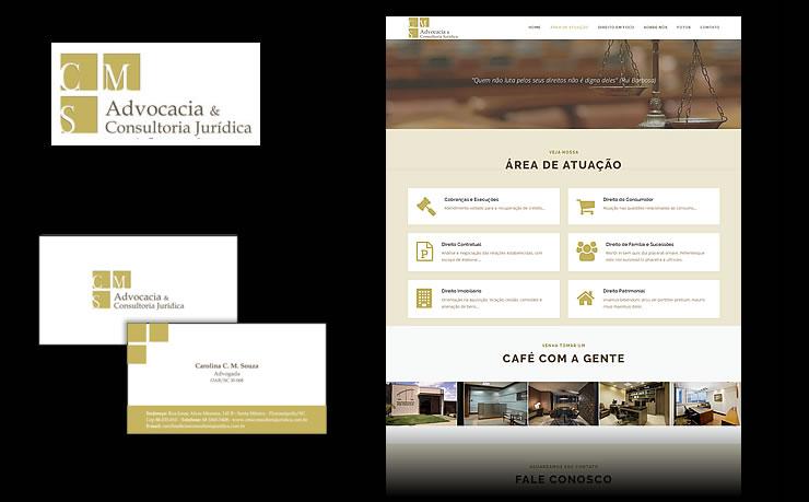 Desenvolvimento de logotipo, material impresso para escritório e site