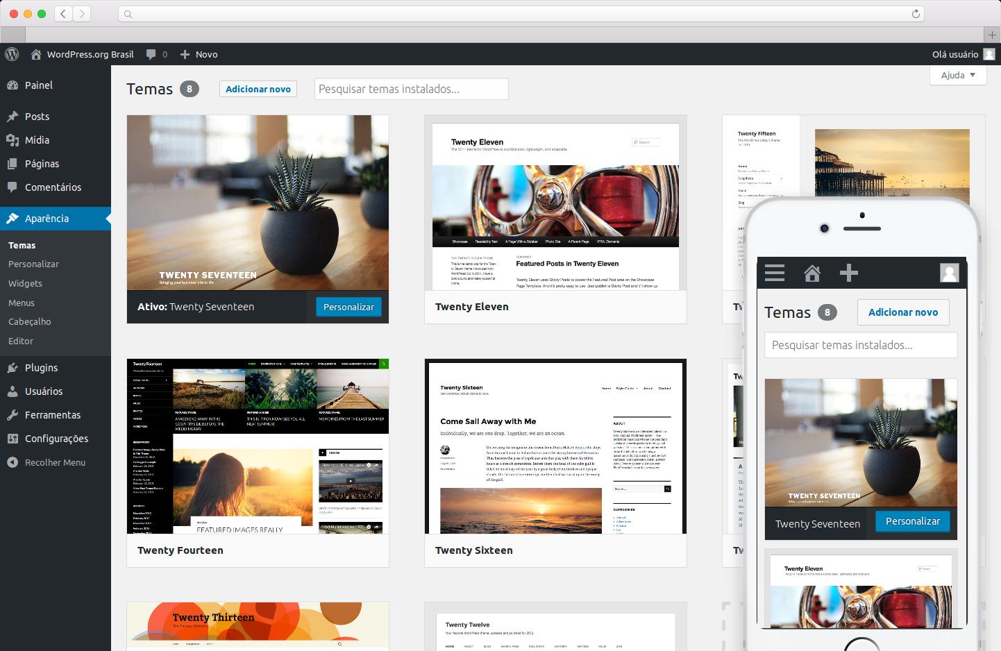 novo site wordpress