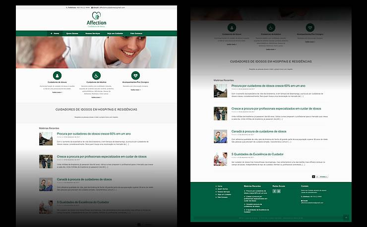 design do logotipo e criação do site