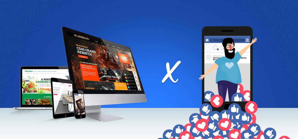 site x redes sociais
